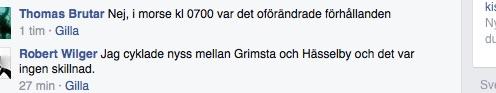 Från facebookgruppen Cykla i Stockholm