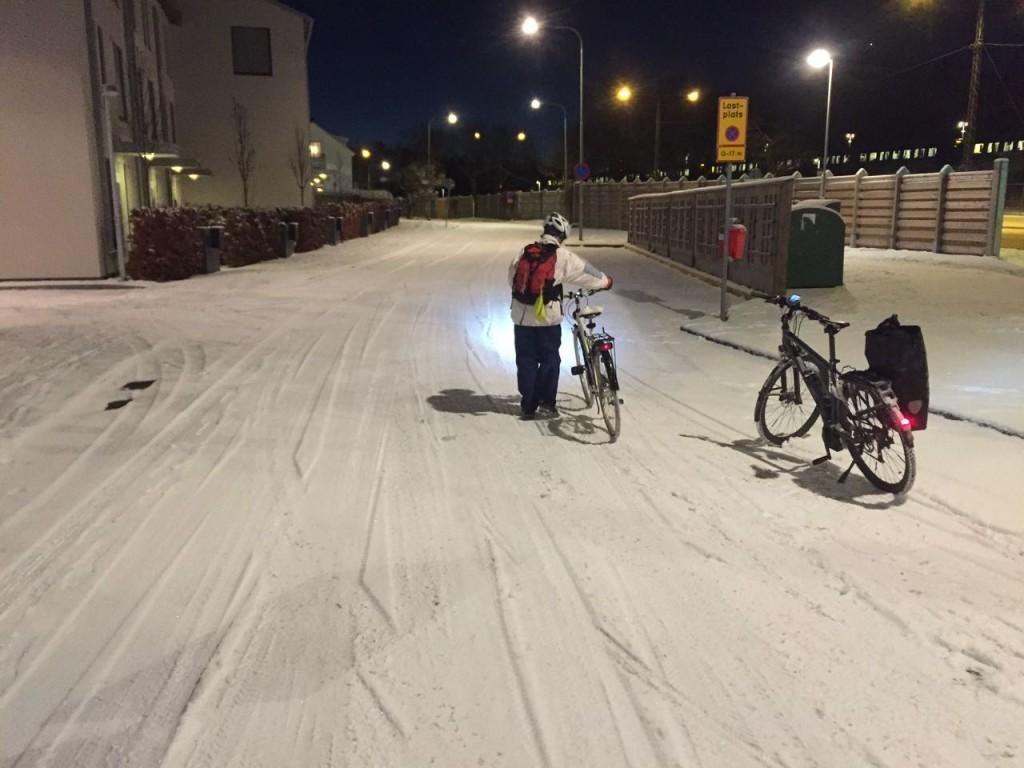 Ingen sopsaltning när cykeltrafik leds om